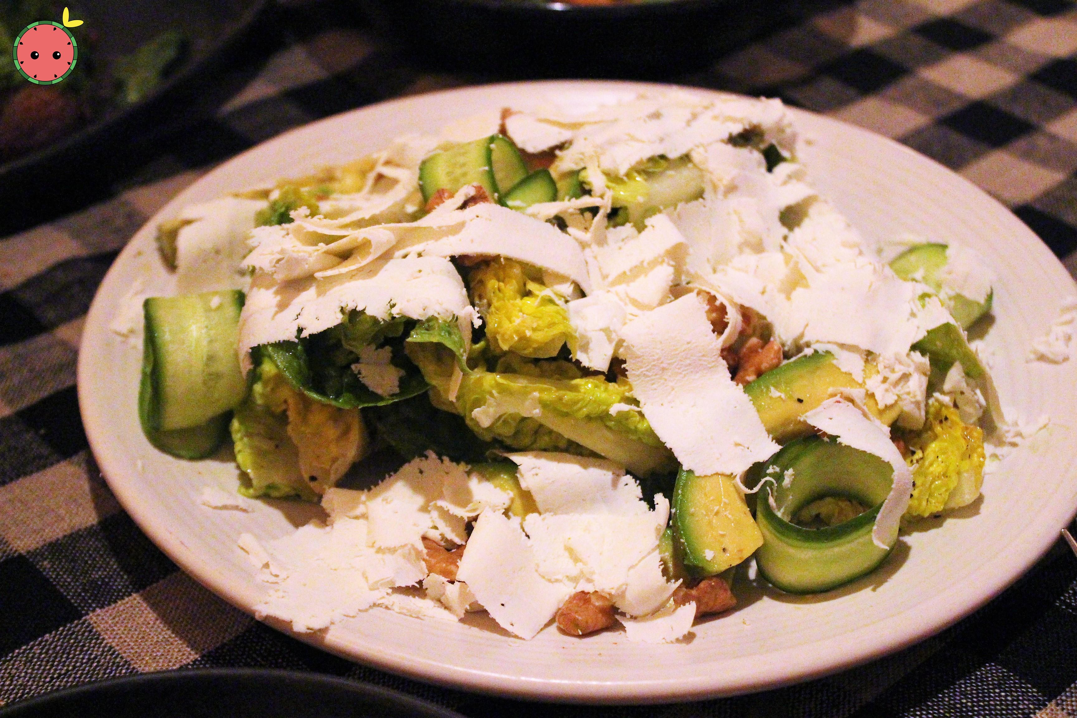Little Gem Salad - Avocado, cucumber, ricotta salata & walnut vinaigrette