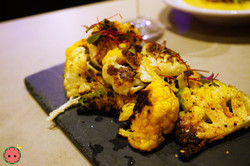 Spice-Roasted Cauliflower - Pecan and Sesame Seed Dukka, Brown Butter, Sorel, & Candied Lemon Zest