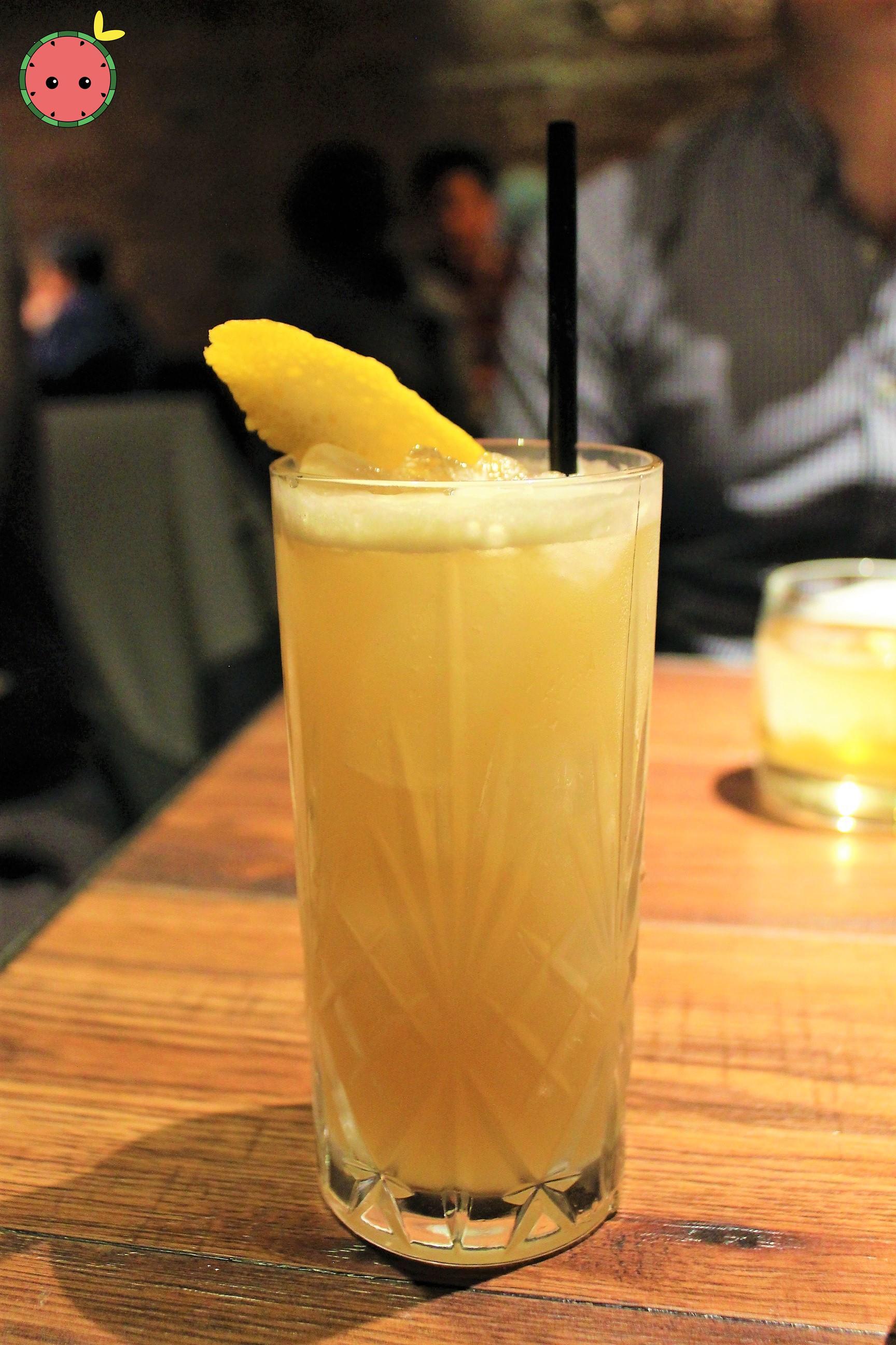Ginger's Secret (Rye Whiskey, Rhum J.M. VO, Dry Vermouth, Ginger Juice, Demerara Sugar & Lemon)