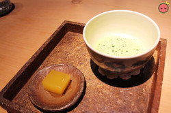 Matcha tea and Keitt mango yokan jelly