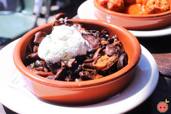 Mushrooms & Herb GOat Cheese with Balsamic Reduction
