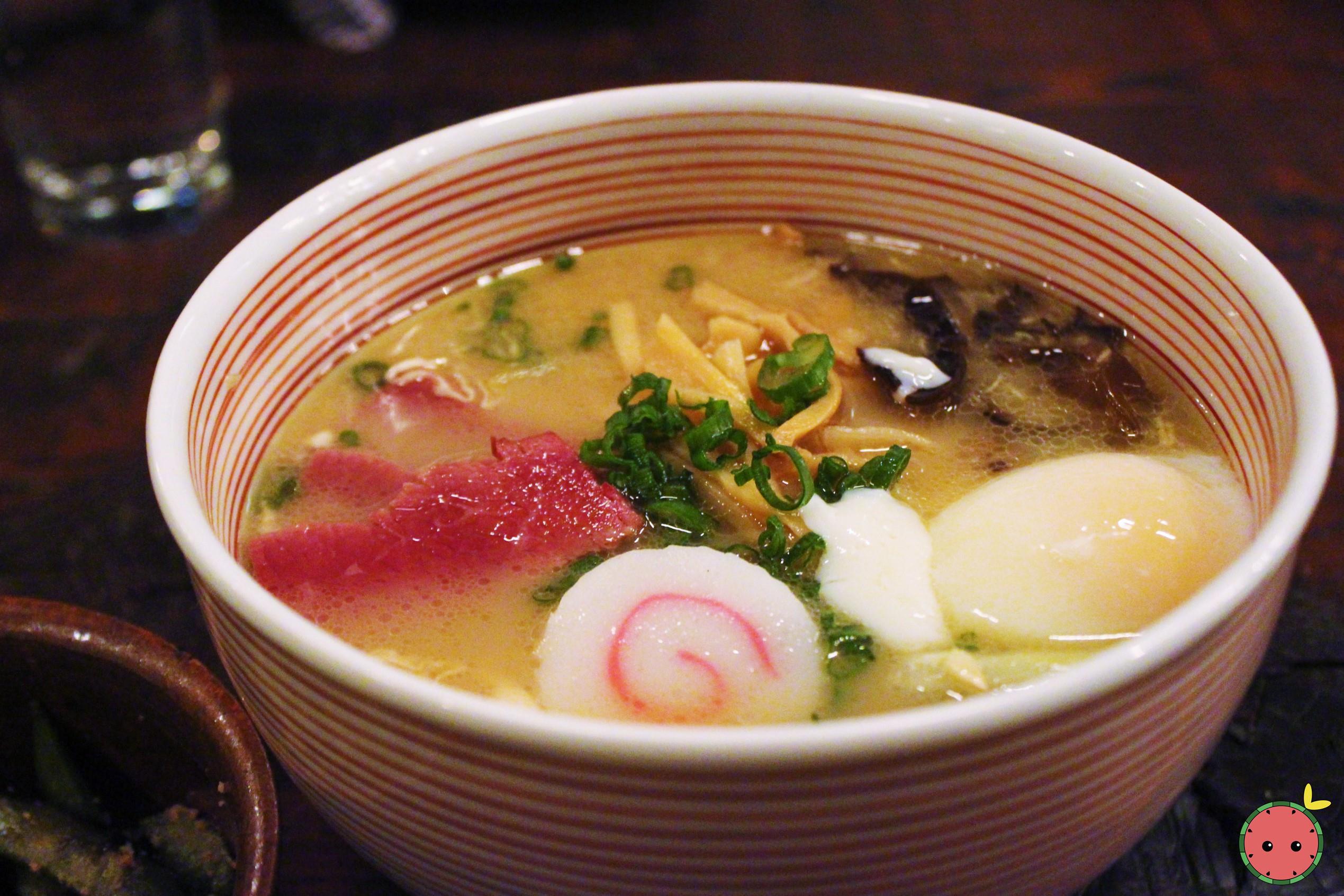 Mu Ramen - Oxtail and bone marrow based soup, corned beef