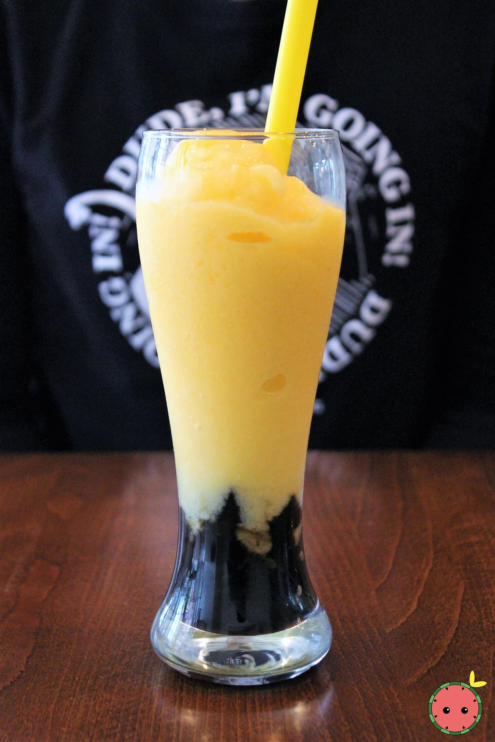 Mango & Black Jelly Shake