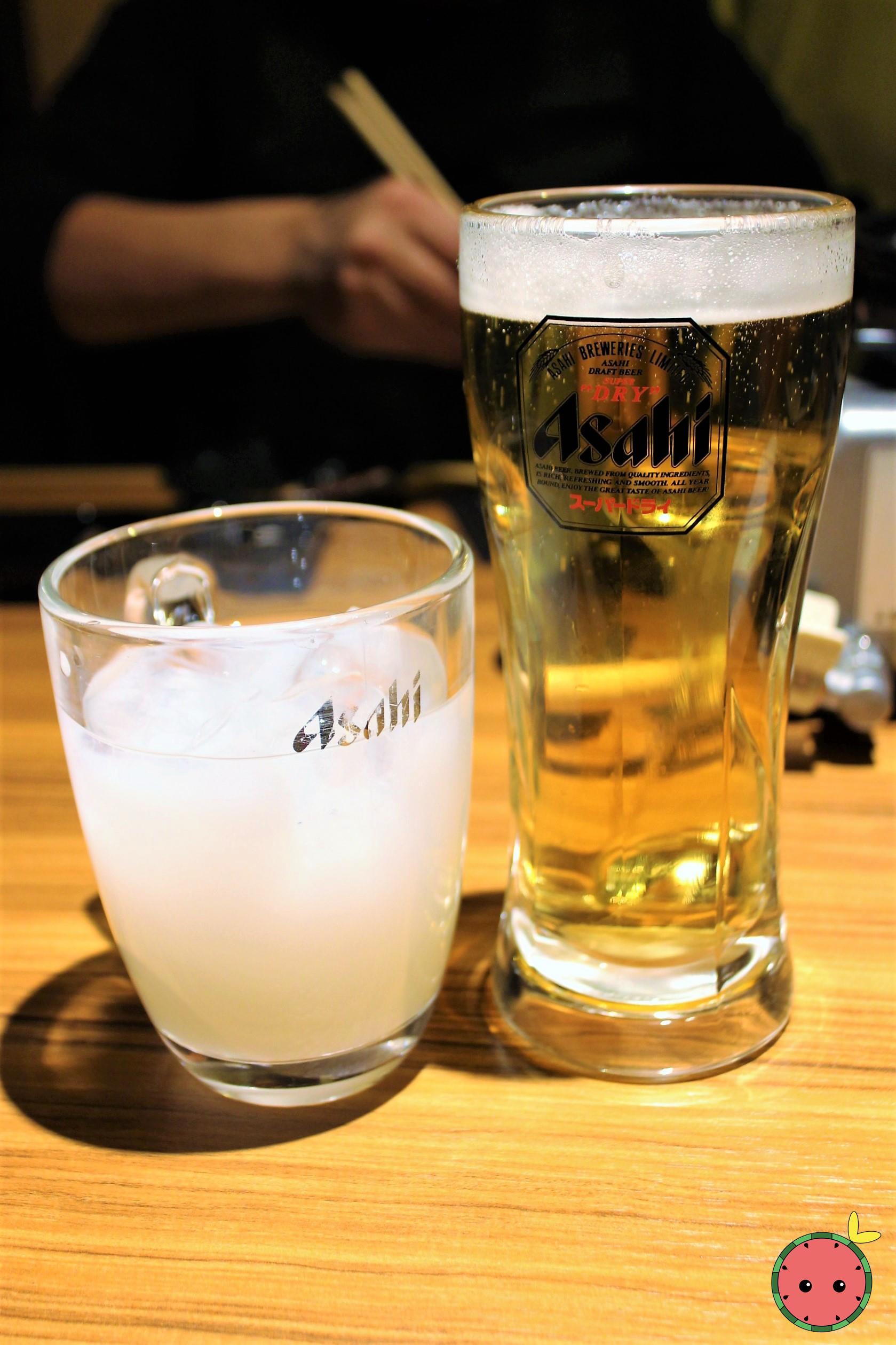 Calpis & Draft Beer