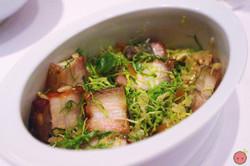 Bossam - Crispy pork belly and dwenjang rice