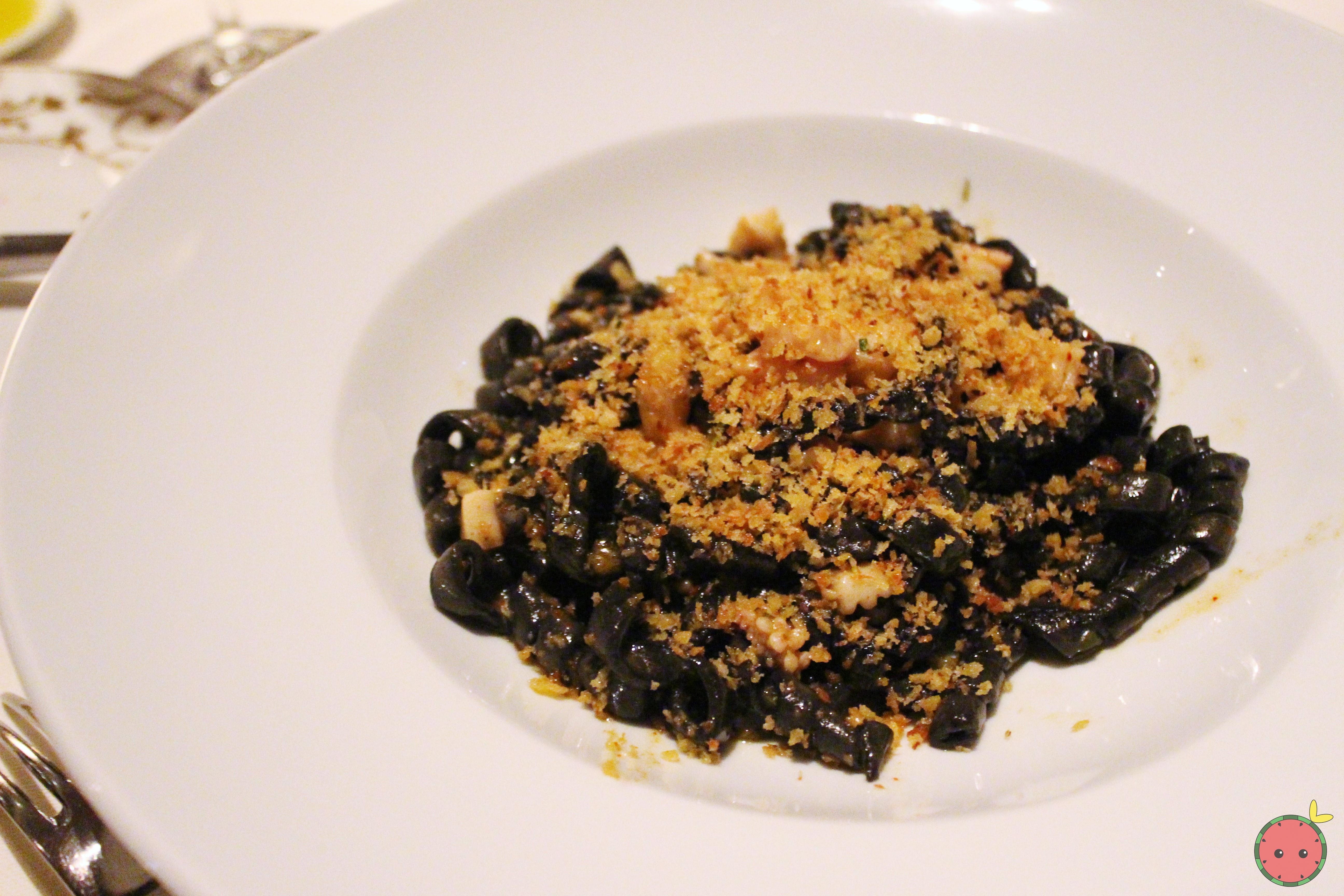Trofie Nero - Ligurian crustacean ragu, seppia, scallops, spiced mollica