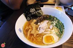 Tokyo Chicken Ramen - Steamed chicken, aji-tama, menma, seared garlic chive, kikurage, toasted nori,