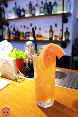 Dutch Courage Cocktail - Genever Gin, Aperol, and grapefruit
