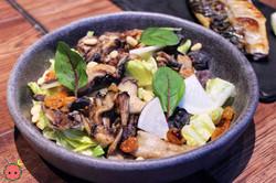 Mushroom Salad with Pine Nuts