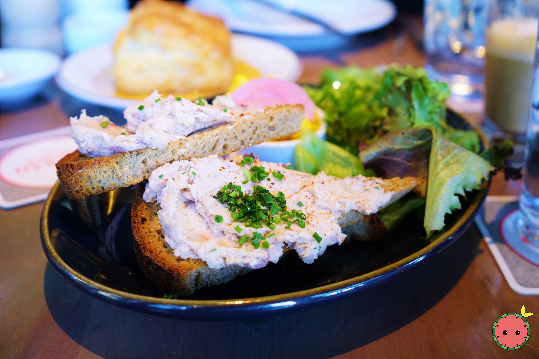 Smoked Salmon Pate with Rye Toast & Pickled Caufliflower Salad