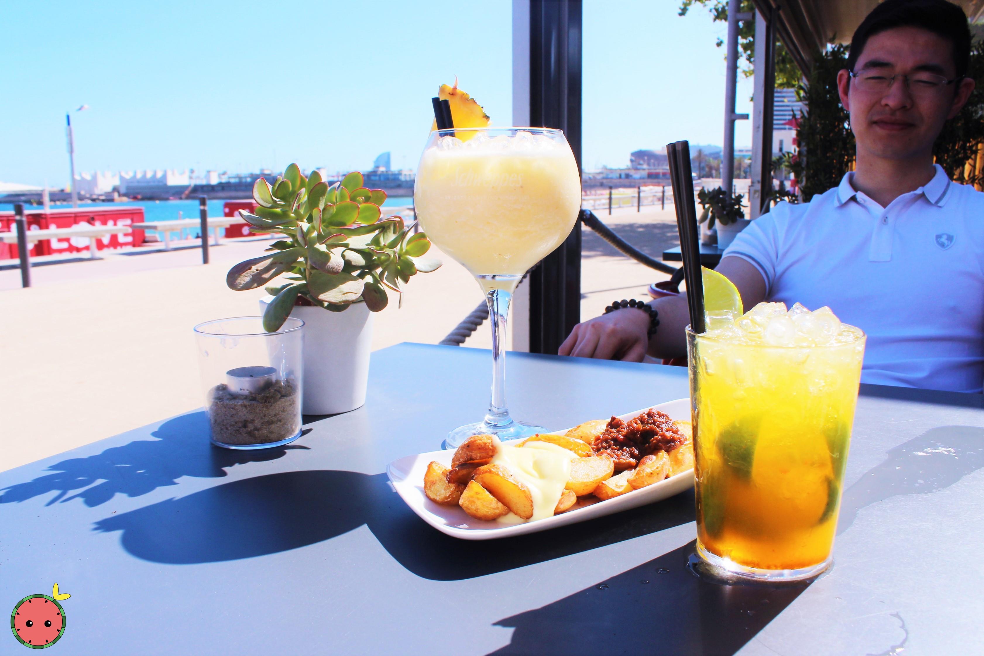 Caipirinha_Cocktail,_Spicy_Potatoes,_&_Piña_Colada_(4)