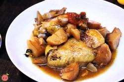 Westermann's Baeckeoffe - Brune Landaise baked in traditional Alsatian earthenware with artichokes,