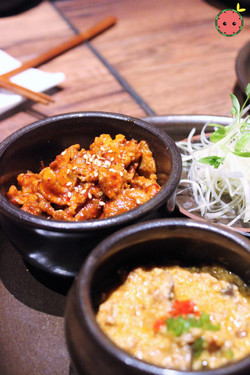 Ssam Platter with Spicy Pork and Gang-deon-jang (3)