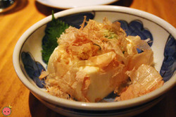 Yakko - Chilled tofu with grated ginger, scallions, and bonito flakes