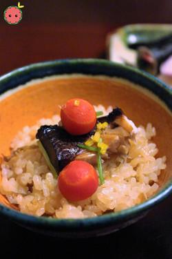 Yellowtail, Burdock, Radish, and Carrots over Rice 2