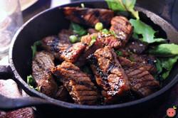 Beef Short Ribs - Marinated short ribs, shishito peppers