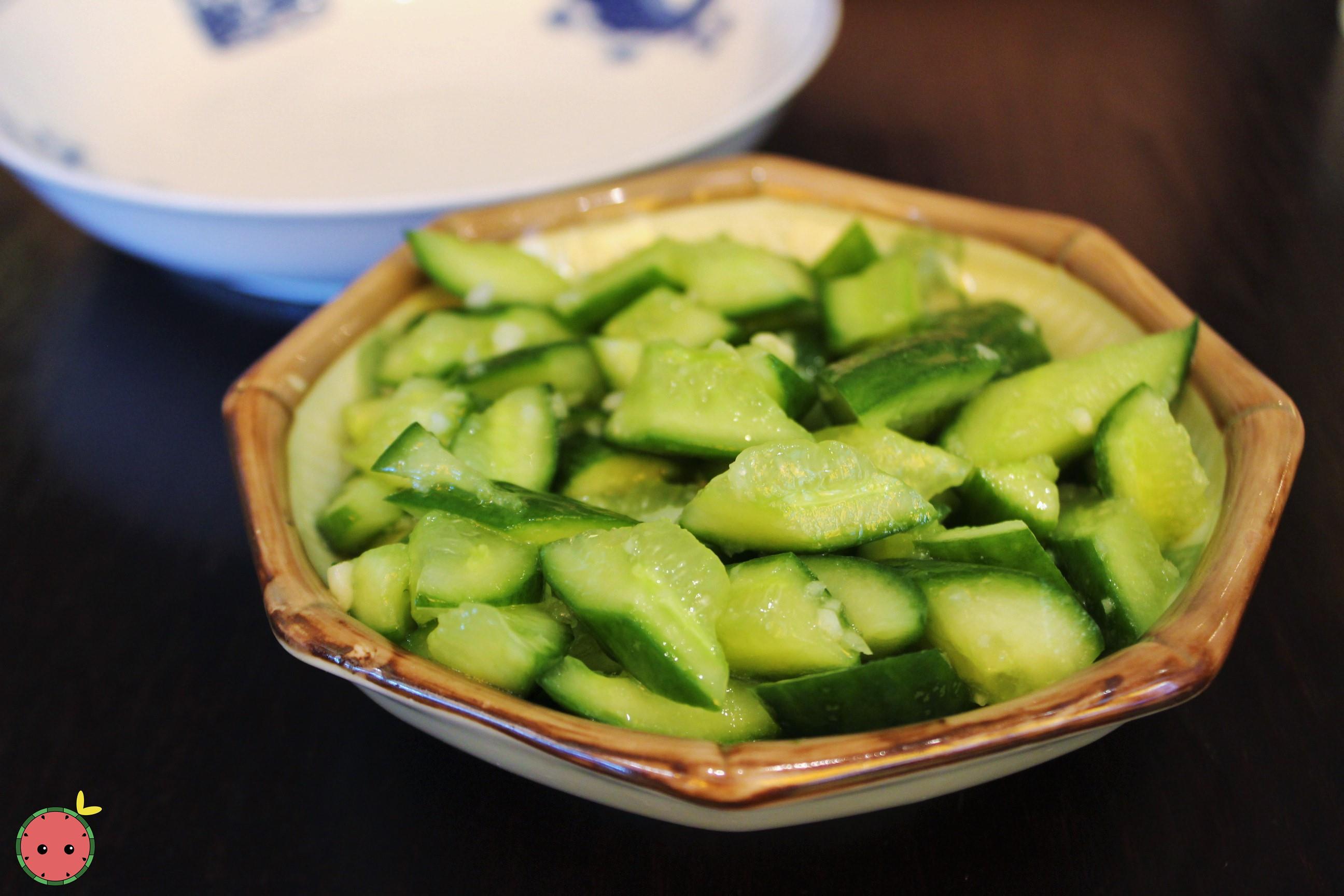 Baby Cucumber - Young cucumber in garlic sauce
