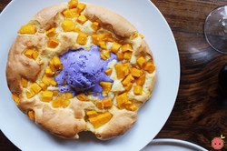Mango Souffle Pancakes - Light as a cloud and served with ube ice cream 2