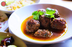 Boar Meatballs with Spicy Ginger & Cilantro Broth
