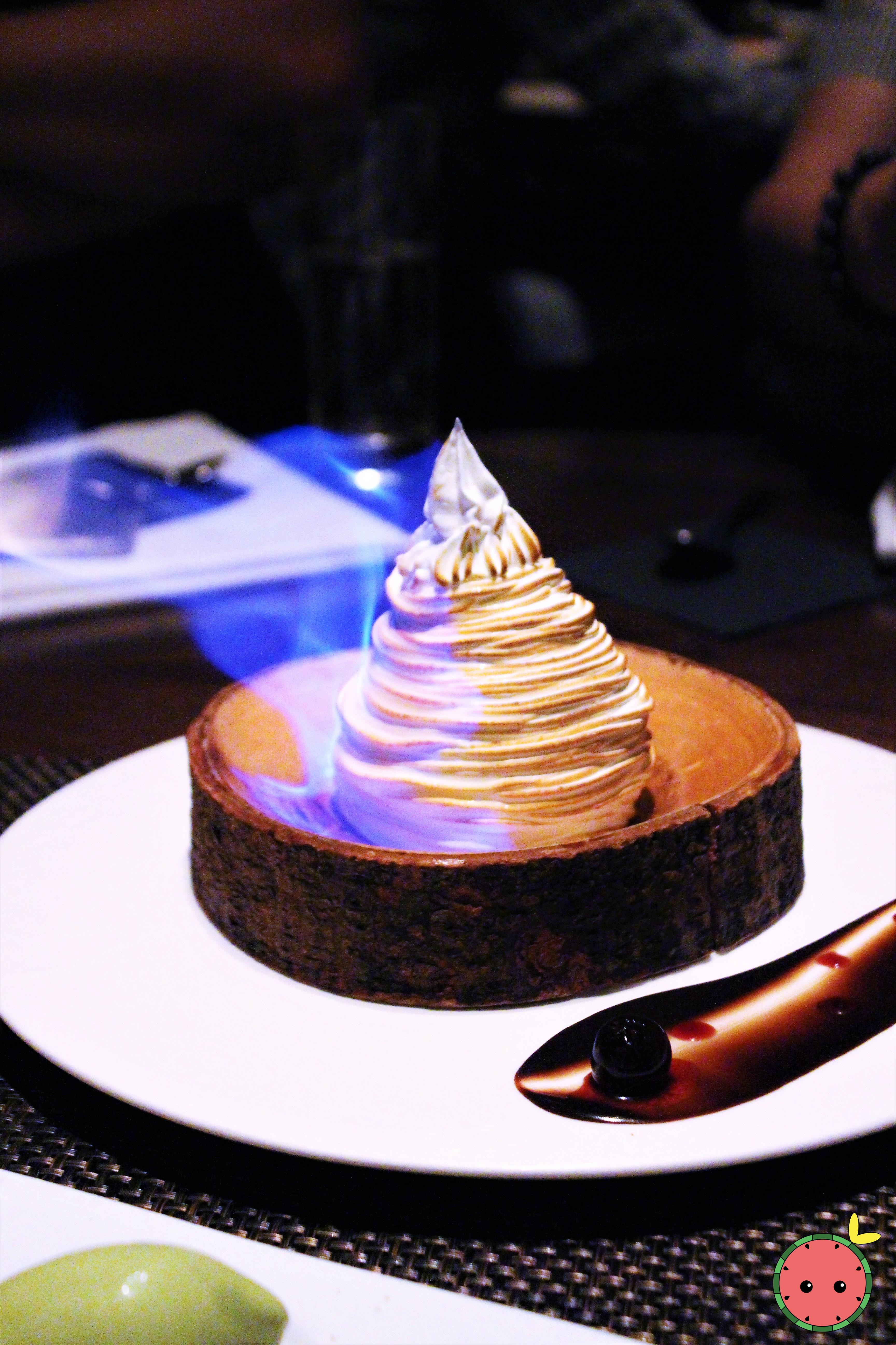 BFBA (Black Forest Baked Alaska) - Devil's Food Cake, Italian Meringue, Tahitian Vanilla Ice Cream,