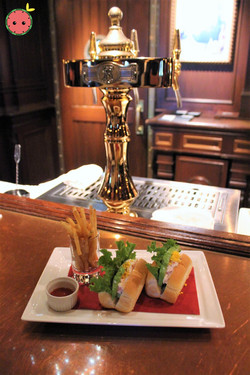 Chef's Special Sandwich with Snow Crab, Avocado, and French Fries 2