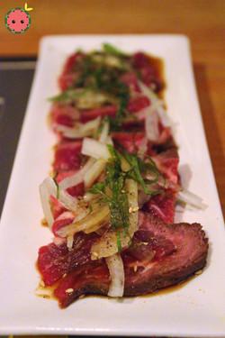 Seared fatty toro kalbi with ponzu sauce