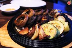 Mushroom Platter - Pyogo, king oyster mushroom, button, squash