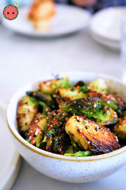 Charred Brussels Sprouts with Maple & Togarashi