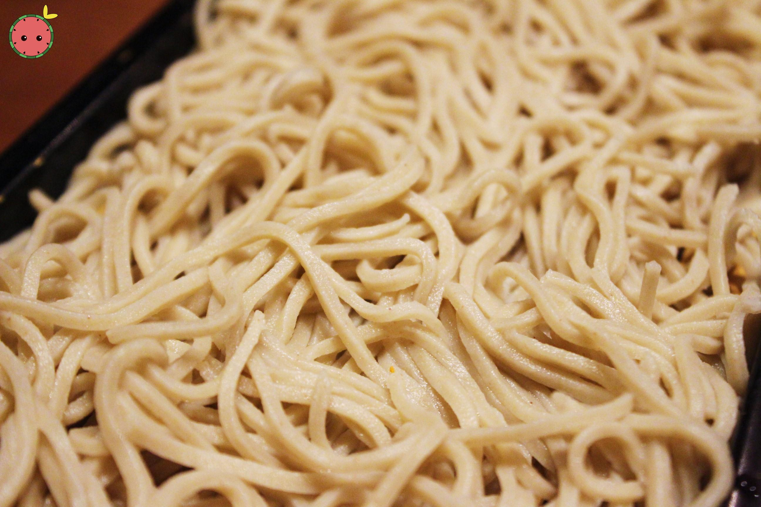 Fresh homemade soba noodles 2