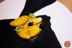 Pink Fir Potatoes with Groundnut & Berri