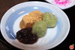 Warabi Mochi, Anko, & Green Bean Mochi