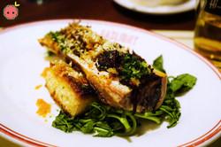 Bone Marrow with Oxtail Marmalade, Horseradish, & Gremolata