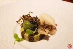 Matcha - Green tea custard, preserved lychee jasmine ice cream