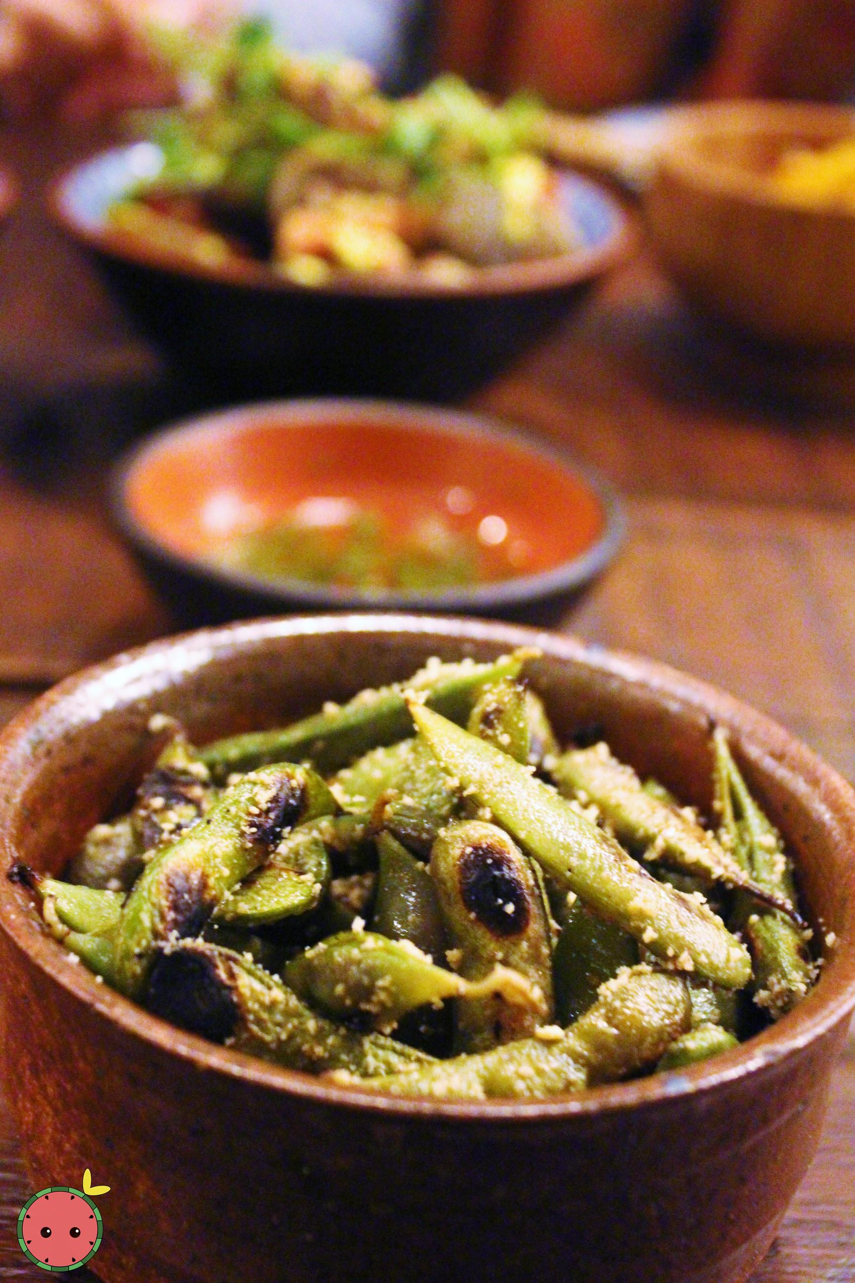 Kuro Edamame - Black edamame, charred, yuzu salt, chili