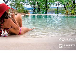Que tal ter uma piscina com cara de praia paradisíaca?