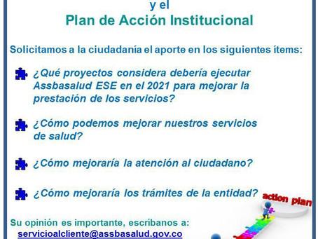 El Plan de Desarrollo y el Plan de Acción lo hacemos todos