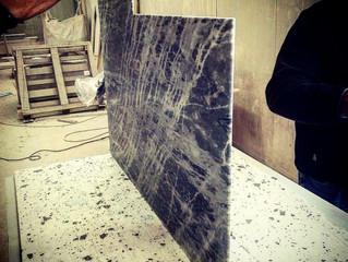 Marble flooring for Private Jet