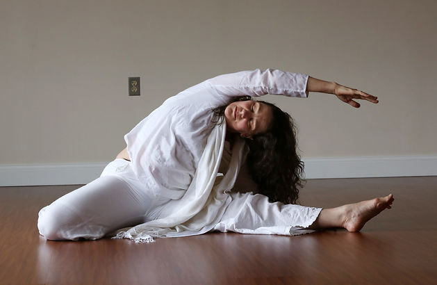Lehigh Valley Counseling and Yoga owner, Janice Bourdage, doing yoga