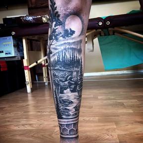 Some progress on Dede's forest leg sleev