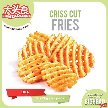 Criss Cut Fries/ 2.27kg