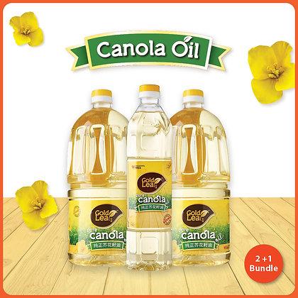 Gold Leaf Pure Canola Oil/ 2+1 Bundle