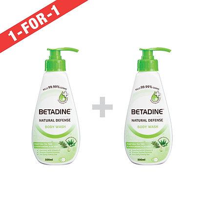 Betadine Natural Defense Body Wash Tea Tree & Aloe Vera/ 500ml