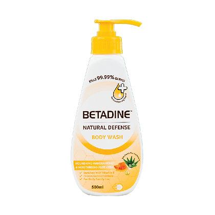 Betadine Natural Defense Body Wash Manuka Honey & Aloe Vera/ 500ml