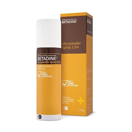 Betadine Dry Powder 2.5% PVPI Spray/ 55g