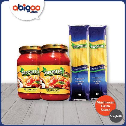 Saporito Spaghetti and Mushroom Pasta Sauce Bundle