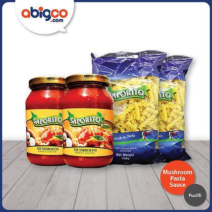 Saporito Fusilli and Mushroom Pasta Sauce Bundle