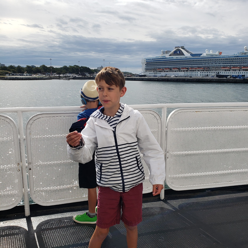 Kids Travel, Coho Ferry