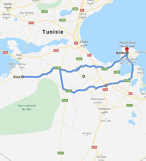 De Djerba randonnée chameliere à douz. Tunisie.JPG