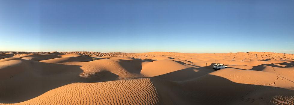 Circuit en 4X4 dans le désert Tunisien