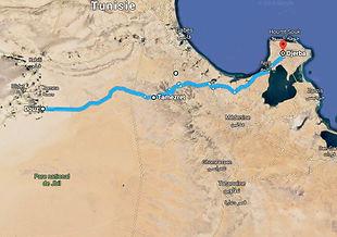 Carte d'excursion Méharée dans le désert a Douz, depuis Djerba Tunisie.jpg